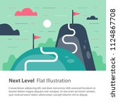 next level concept  upgrade ... | Shutterstock .eps vector #1124867708