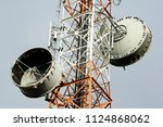 microwave transmitter at... | Shutterstock . vector #1124868062