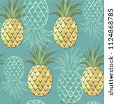 summer seamless pattern with... | Shutterstock .eps vector #1124868785