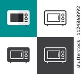 microwave icons 2018 | Shutterstock .eps vector #1124868992