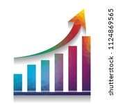 growing graph sign. vector.... | Shutterstock .eps vector #1124869565