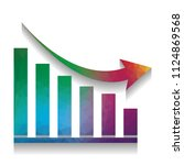 declining graph sign. vector.... | Shutterstock .eps vector #1124869568