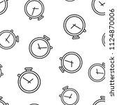 clock timer icon seamless... | Shutterstock .eps vector #1124870006