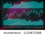 business chart of forex trading ... | Shutterstock . vector #1124872388