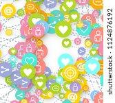 social media marketing ...   Shutterstock .eps vector #1124876192