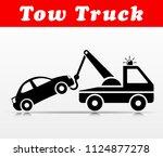 illustration of tow truck... | Shutterstock .eps vector #1124877278