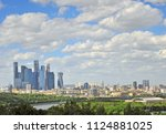 panorama of moscow and moscow... | Shutterstock . vector #1124881025