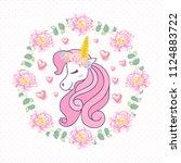 cute unicorn vector | Shutterstock .eps vector #1124883722