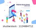 social media concept with... | Shutterstock .eps vector #1124884712