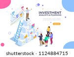 investment and virtual finance. ... | Shutterstock .eps vector #1124884715