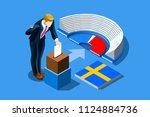 sweden election voting concept... | Shutterstock .eps vector #1124884736