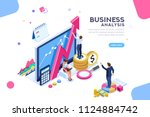 auditing  business analysis... | Shutterstock .eps vector #1124884742