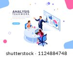 project management and... | Shutterstock .eps vector #1124884748