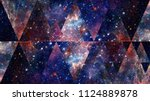universe  nebula  galaxy and... | Shutterstock . vector #1124889878