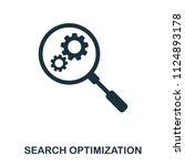 search optimization icon. line...