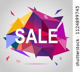 sale banner template colorful... | Shutterstock .eps vector #1124899745