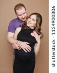 couple is expecting a baby.... | Shutterstock . vector #1124900306