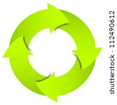 green arrows circle | Shutterstock . vector #112490612