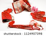 japanese kimono accessories | Shutterstock . vector #1124907398