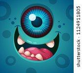 cute  funny  crazy monster...   Shutterstock .eps vector #1124911805