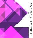 geometric background of... | Shutterstock . vector #1124912795