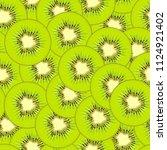 Kiwi Seamless Pattern. Fruit...