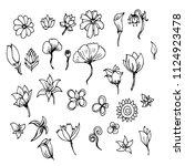 hand drawn sketch doodle vector ...   Shutterstock .eps vector #1124923478