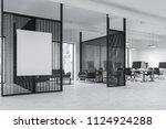 loft windows office waiting... | Shutterstock . vector #1124924288