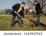 lutsk  volyn   ukraine   april... | Shutterstock . vector #1124927015