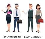 business characters vector set... | Shutterstock .eps vector #1124928098