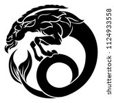 astrology horoscope zodiac... | Shutterstock .eps vector #1124933558