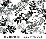 illustration with grey dill and ... | Shutterstock .eps vector #1124943095