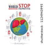 world hepatitis day vector...   Shutterstock .eps vector #1124943995