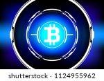 hud futuristic bitcoin... | Shutterstock .eps vector #1124955962