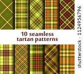 set of seamless tartan patterns | Shutterstock .eps vector #1124956796