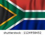 south africa realistic waving... | Shutterstock .eps vector #1124958452