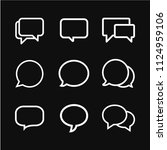chat speech bubble icon vector... | Shutterstock .eps vector #1124959106
