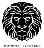 a leo lion horoscope astrology... | Shutterstock .eps vector #1124965028