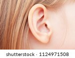 the little girl's ear is close... | Shutterstock . vector #1124971508