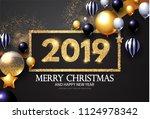 happy new 2019 year  shining... | Shutterstock .eps vector #1124978342