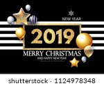 happy new 2019 year  shining... | Shutterstock .eps vector #1124978348