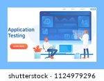 application testing concept... | Shutterstock .eps vector #1124979296