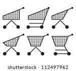 shopping cart set | Shutterstock .eps vector #112497962