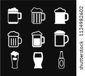 beer icon vector  in trendy... | Shutterstock .eps vector #1124982602