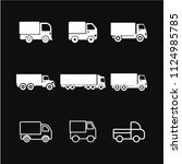 delivery truck icon vector ... | Shutterstock .eps vector #1124985785