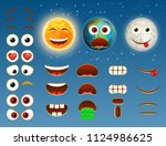 sun earth planet and moon emoji ... | Shutterstock .eps vector #1124986625