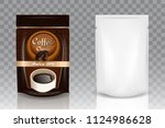 instant coffee packaging bag... | Shutterstock .eps vector #1124986628