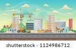 vector game background.... | Shutterstock .eps vector #1124986712