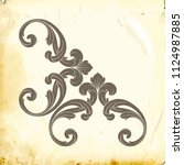 retro baroque decorations... | Shutterstock .eps vector #1124987885