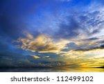 Beautiful Sunset Above The Sea...